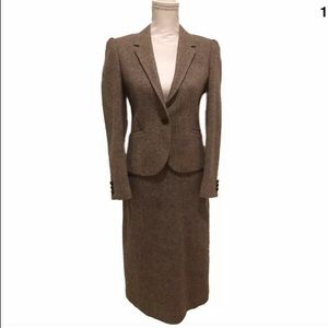 XS/S 2/4 Vtg Wool Jos A. Bank tweed skirt suit